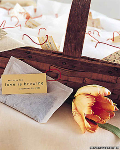 Love is Brewing Tea Bag Favor