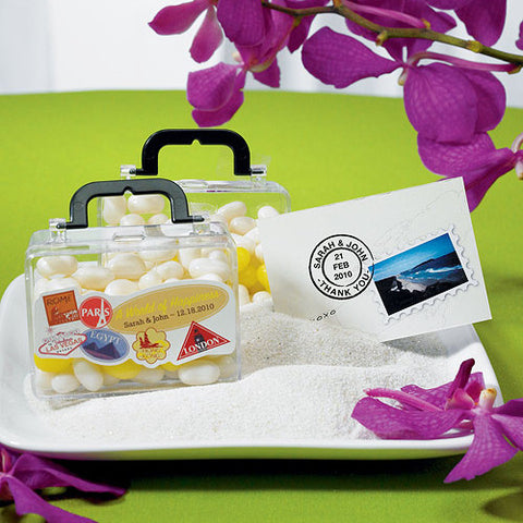 Mini Travel Suitcase Container Wedding Favor