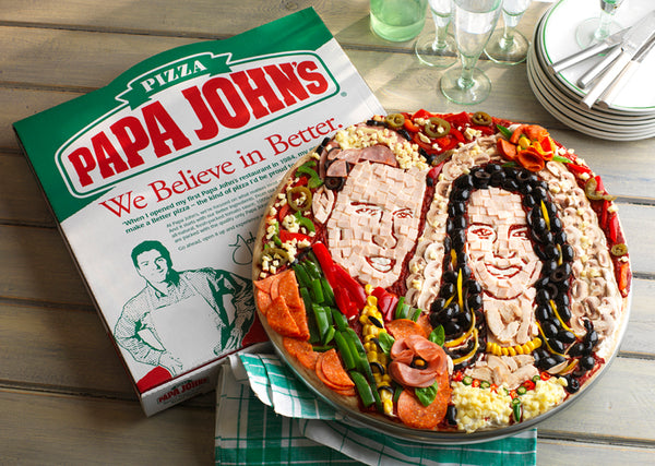 Papa Johns Bride and Groom Pizza Pies