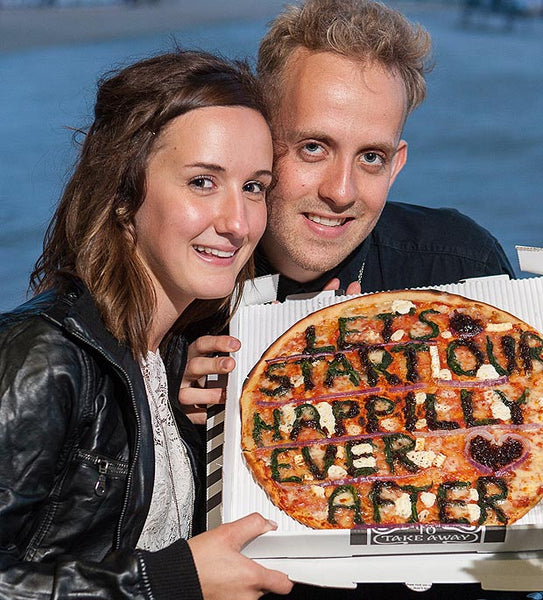 Pizza Proposal Idea - Let's Start our Happily Ever After