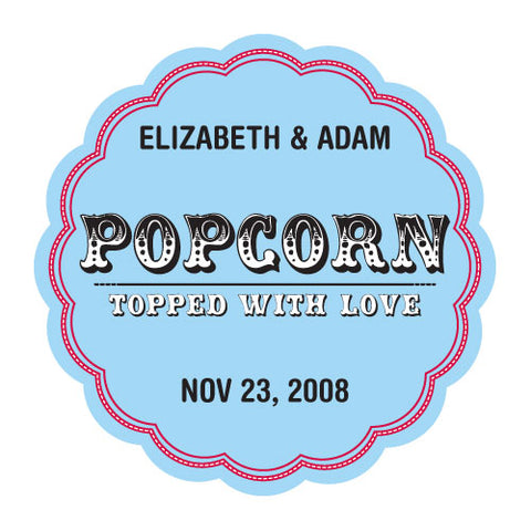 Personalized Popcorn Box Sticker
