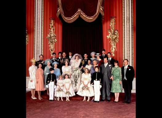 Princess Diana and Prince Charles Wedding Party