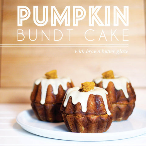 Autumn Pumpkin Bundt Cakes