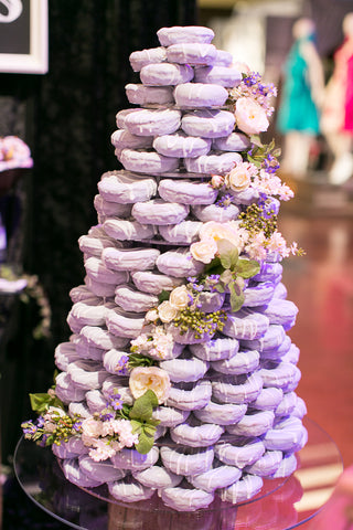 The 8 best donut wedding ideas candy cake weddings purple lavender donut wedding cake junglespirit Choice Image
