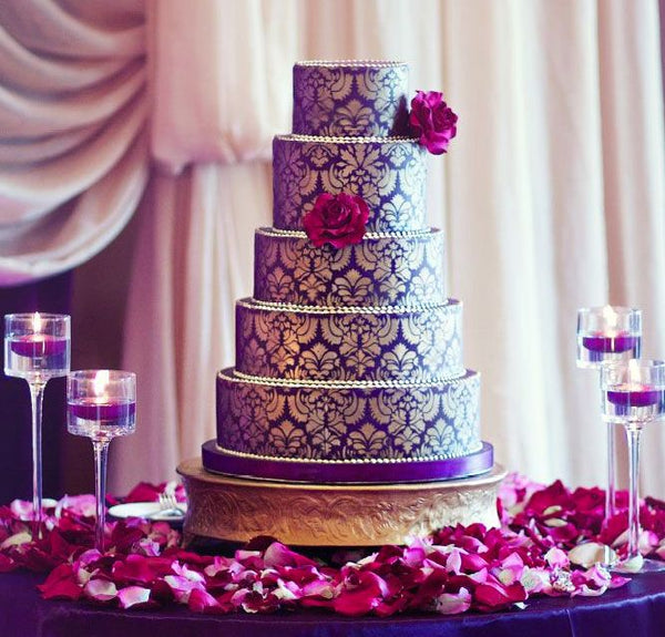 Our top 5 fave purple wedding cake candy cake weddings detailed purple wedding cake junglespirit Choice Image