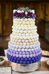 Purple Wedding Cake made from Cake Pops
