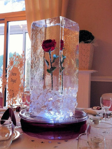 Rose Ice Sculpture Carving