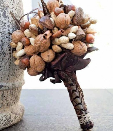 Cinnamon Sticks, Chestnut, Almond and Walnut Edible Bridal Wedding Bouquet