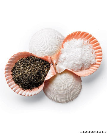 Easy DIY Salt and Pepper Seashell Dish