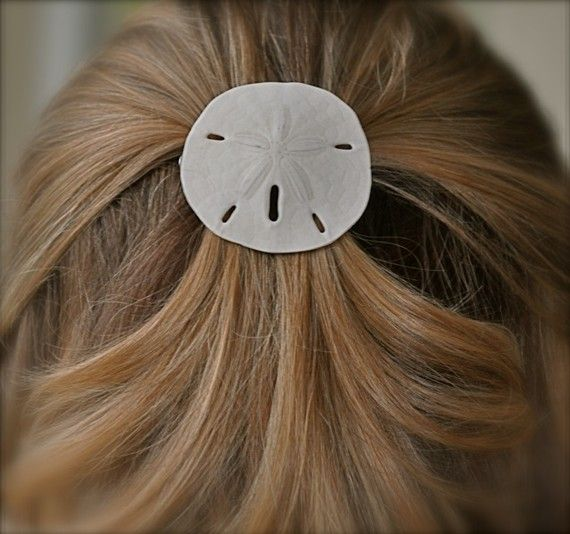 Sand Dollar Beach Wedding Hair Accessory