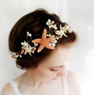 Starfish Beach Wedding Hair Accessory