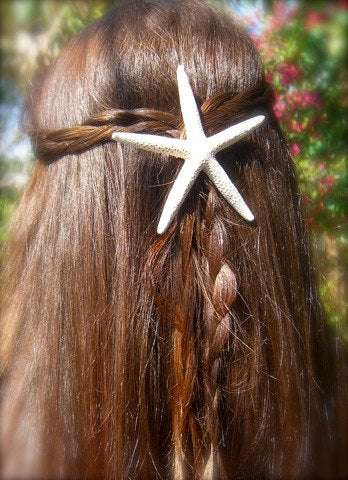 White Starfish Beach Wedding Hair Accessory