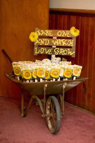 Sunflower Wedding Seed Favors