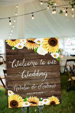 Sunflower Wedding Board