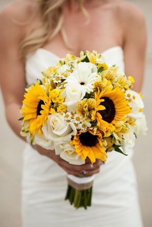 Sunflower Bridal Bouquet Idea