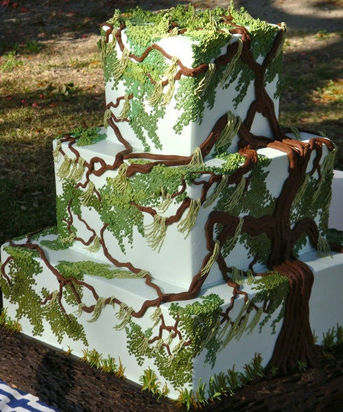Rustic Tree Inspired Wedding Cake