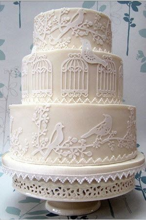 Love Bird Wedding Cake Idea