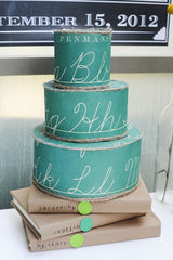 Vintage Green Chalkboard Wedding Cake