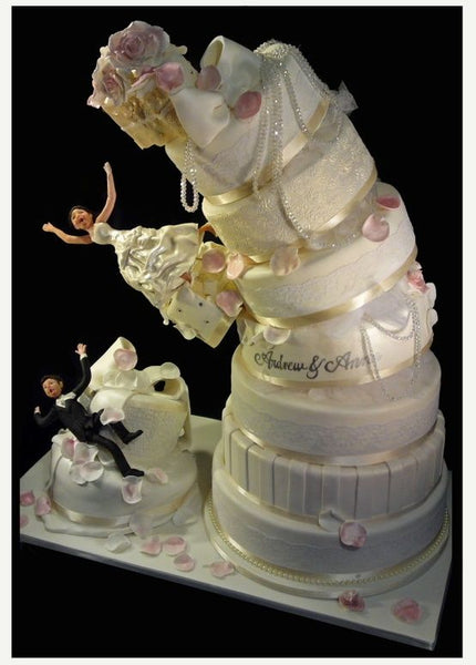Funny Disastrous Wedding Cake