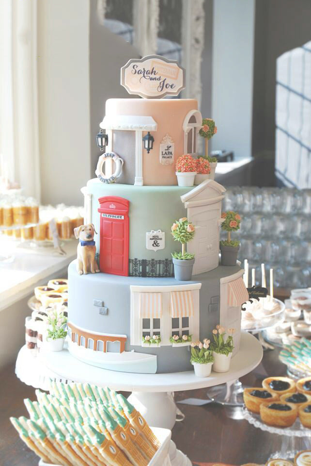 Just Married Wedding Cake Tower