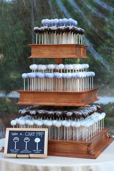 Modern Cake Pop Wedding Cake