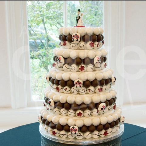Day of the Dead Cake Pop Wedding Cake