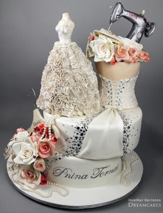 Wedding Gown Cake for Artist