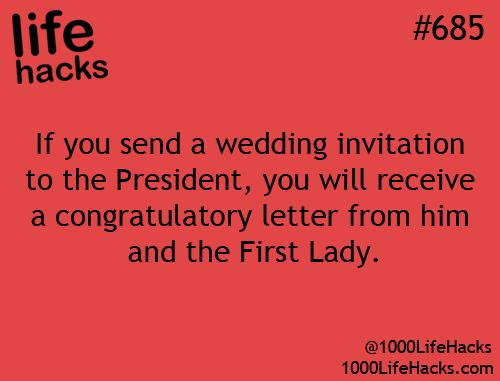 Wedding Congratulation Letter from the First Lady