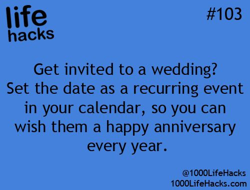 Wedding Anniversary Life Hack