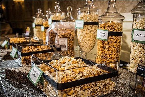 our favorite diy wedding popcorn bars candy cake weddings. Black Bedroom Furniture Sets. Home Design Ideas