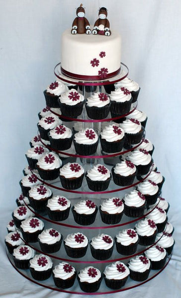 Multi-tiered Wedding Cupcake Tower & Top 12 Wedding Cupcake Ideas u2013 Candy Cake Weddings