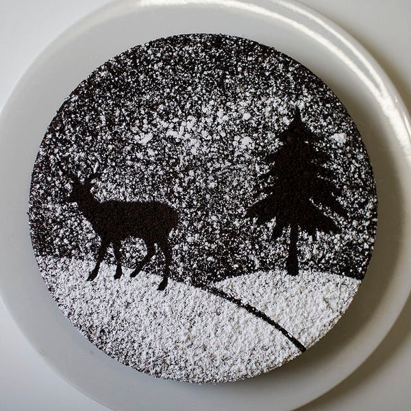 Winter Powered Sugar Stencil