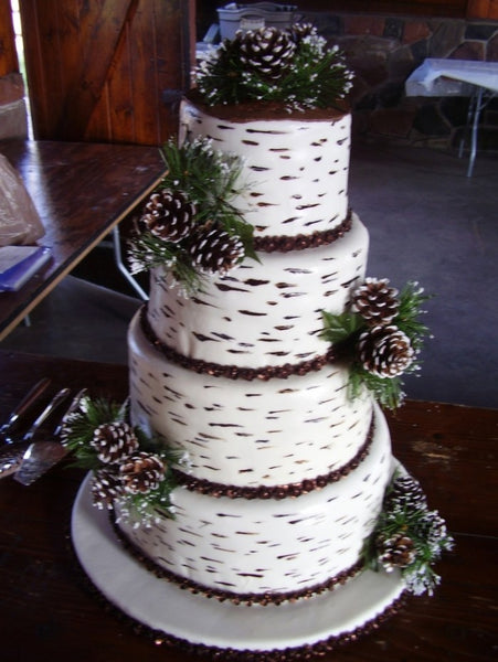 Winter wedding cake wow 16 mind blowing ideas candy cake weddings pine tree pine bark style winter wedding cake design junglespirit Choice Image