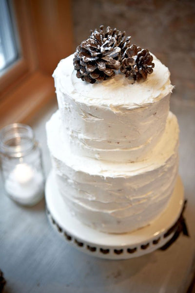 Style Me Pretty Winter Wedding Cake