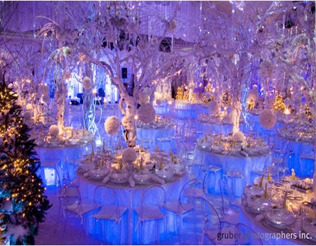 Winter Wedding Table Centerpieces