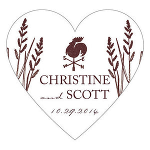 Rustic Country Heart Sticker