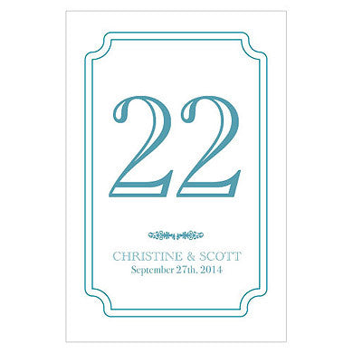 Custom Classic Table Number Glass Bottle Sticker Label (Pack of 12)