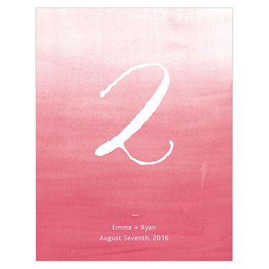 Watermelon Aqueous Table Number