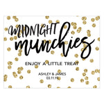 Personalized Gold Glitter Sparkle Table Card (Pack of 24)