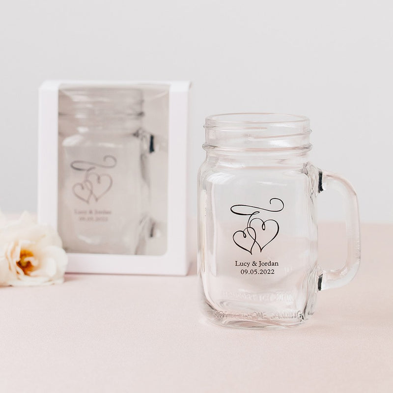 White Gift Box with Clear Window - Fits 16oz Mason Jar Drinking Glass (Sold Separately)