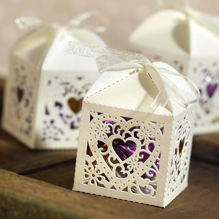 Decorative Die Cut Wedding Favor Boxes (Pack of 25)