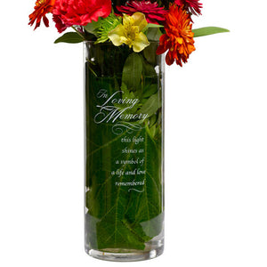 Glass Loving Memories Cylinder