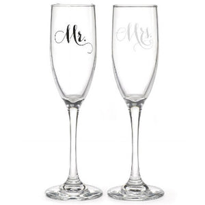 Mr and Mrs Glass Set