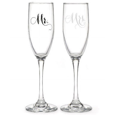 Mr and Mrs Champagne Flute Set