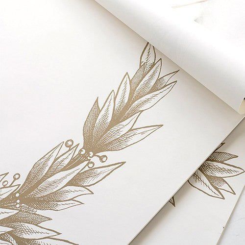 Gold Laurel Wreath Paper Wedding Party Table Placemat