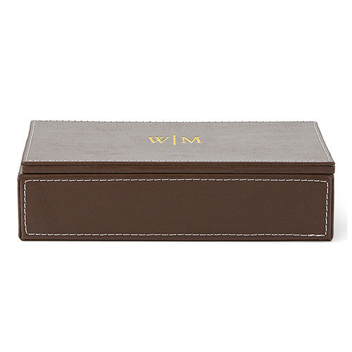 Personalized Monogram Men's Gift Accessories Jewelry Storage Box