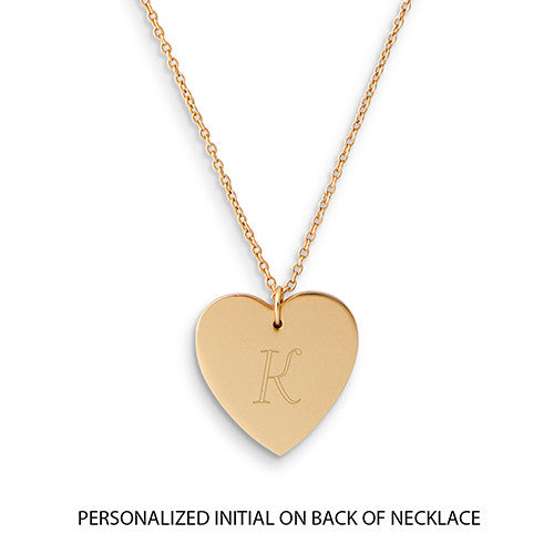 Crystal Double Swing Heart Necklace - Matte Gold