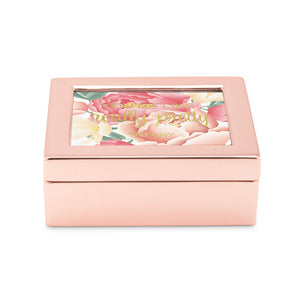 Personalized You're Like Really Pretty Floral Print Jewelry Box