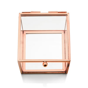 Rose Gold Glass Jewelry Box