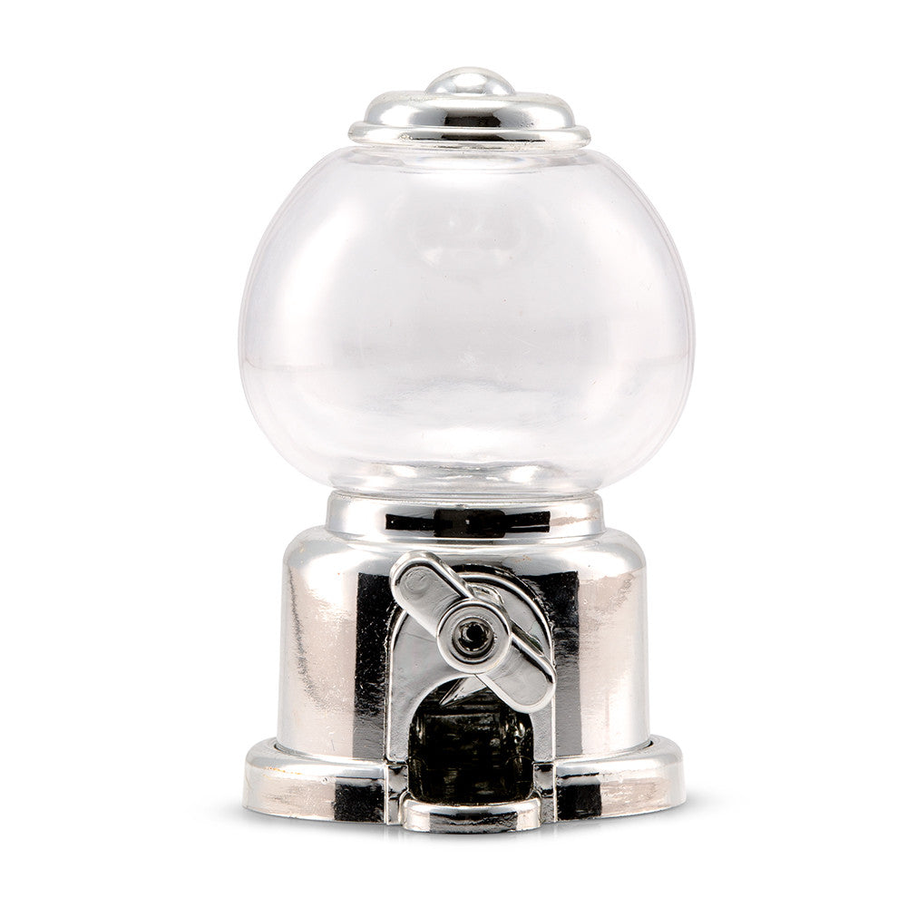 Mini Gumball Machine Party Favor - Silver